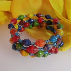Colorful Coil Cuff Bracelet